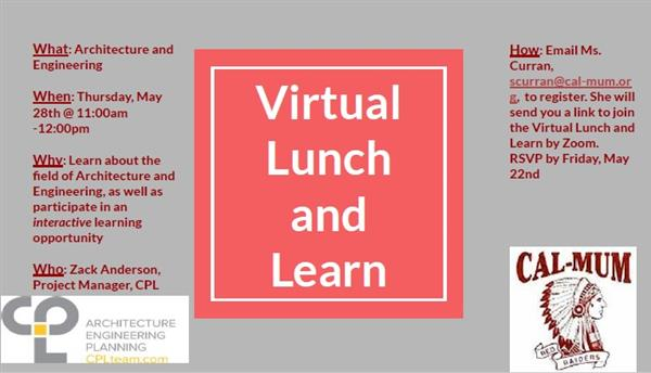 May 28, 2020 Lunch & Learn
